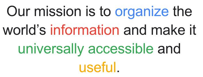 Google mission